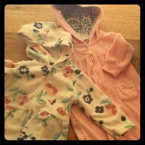 Girls 6M Cuddle Set - 2p fleece jacket & jumpsuit